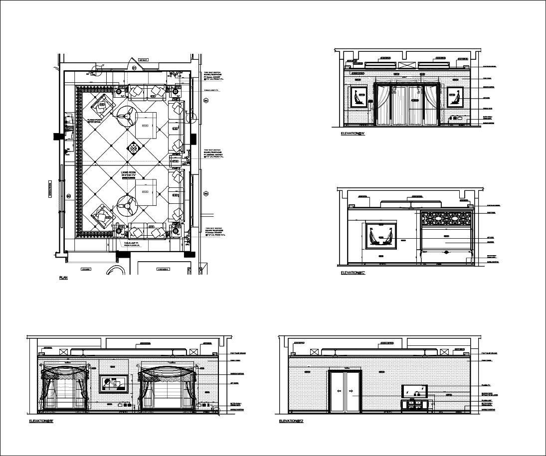 Interior elevations