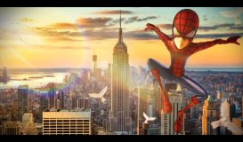 SpiderBoyFlying